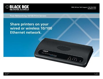 Share printers on your wired or wireless 10/100 Ethernet ... - Black Box