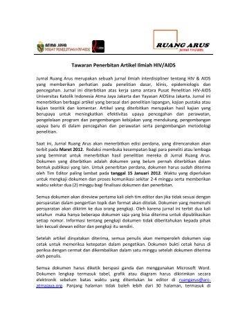 Tawaran Penerbitan Artikel Ilmiah HIV/AIDS - Komunitas AIDS ...