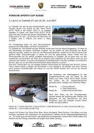 PORSCHE SUISSE CUP - Fach Auto Tech