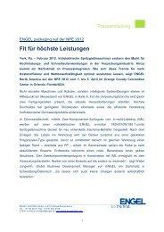 Fit für höchste Leistungen - Engel Austria