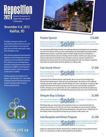 Sponsorship Opportunities - CITT