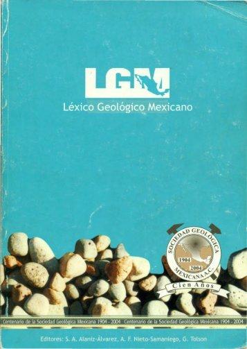 2004 Léxico Geológico Mexicano - Páginas Personales UNAM