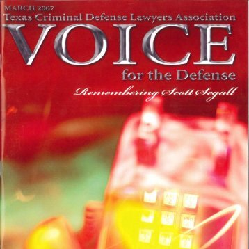join tcdla! - Voice For The Defense Online