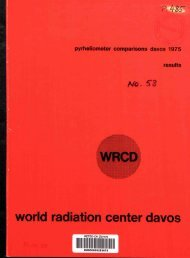 world radiation center davos - MeteoSwiss