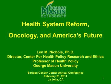 Scripps Presentation - Center for Health Policy Research and Ethics ...