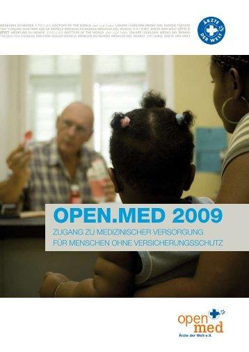 Tätigkeitsbericht open.med 2009 - Ärzte der Welt e.V.