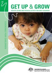 Get Up & Grow Cooking for Children - Bright Stars Family Day Care