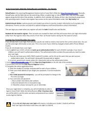 Using Forest Park's Web Site - Forest Park High School