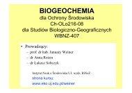 Wykład 1 - pdf - Instytut Nauk o Środowisku UJ w Krakowie ...