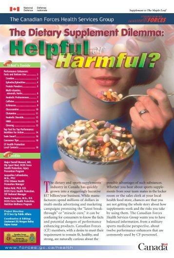 The dietary Supplement Dilemma - CISM