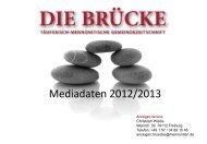 Mediadaten 2012/2013 - Arbeitsgemeinschaft Mennonitischer ...