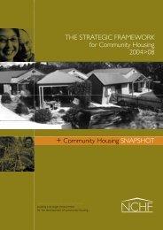 NCHF Strategic Framework for Community Housing