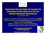 Seminário Uso do Poder de Compra do Município de São ... - GVces