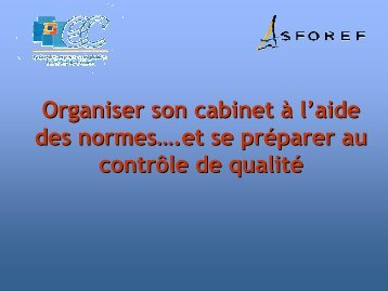 des normes - Ordre des experts-comptables de Paris Ile-de-France