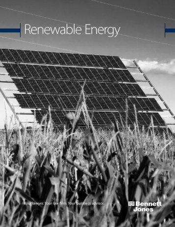 Renewable Energy Brochure - Bennett Jones