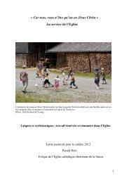 Lire la lettre pastorale 2012 - Eglise catholique-chrétienne en ...