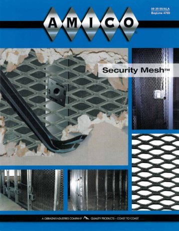 2010 AMICO's Physical Security Suite - AMICO Security Products