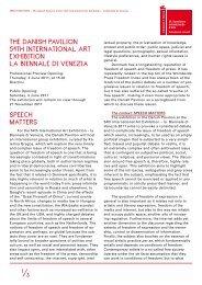 THE DANISH PAVILION 54TH INTERNATIONAL ART EXHIBITION LA
