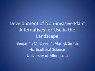 Development of Non-invasive Plant Alternatives for Use in the ...