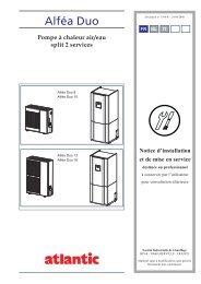 Pompe à chaleur air/eau split 2 services - Atlantic-comfort.com