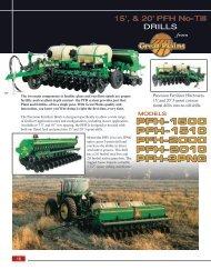 PFH No-Till DRILLS - Great Plains Manufacturing