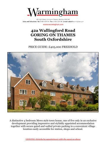 42a Wallingford Road GORING ON THAMES South ... - Warmingham