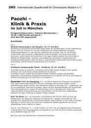 Paozhi - SMS Internationale Gesellschaft für Chinesische Medizin e.V