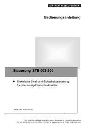 Bedienungsanleitung Steuerung STE 003-200 - TOX ...