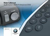 Rider's Manual Audio system BMW Professional 2000