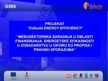 Međusektorska saradnja u oblasti finansiranja energetske ...