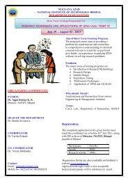 Workshop brochure 29 july,2013.pdf - MANIT