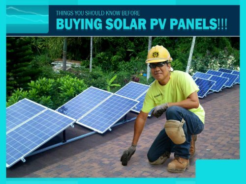 Things you should know before buying Solar PV panels