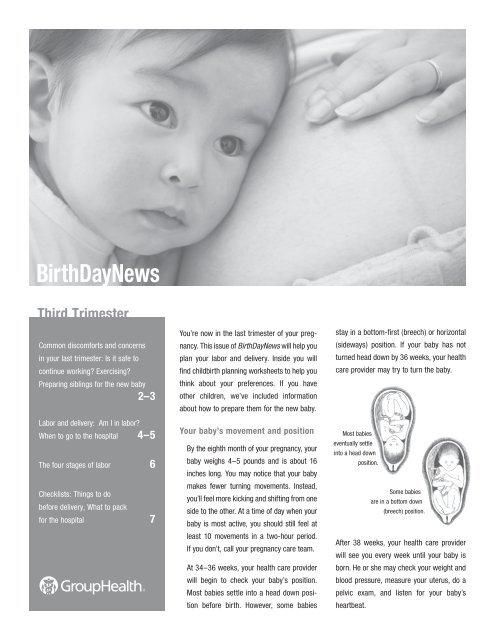 Birthday News: Third Trimester