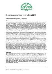 Bericht Senioren & Veteranen - SV Rümlang