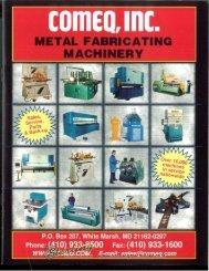 Comeq Metal Fabricating Brochure - Sterling Machinery