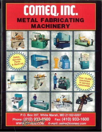 Comeq Metal Fabricating Brochure - Sterling Machinery