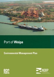 Port of Weipa Environmental Management Plan (EMP) - North ...