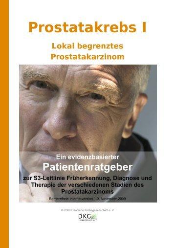 Patientenratgeber I zum lokal begrenztem Prostatakarzinom