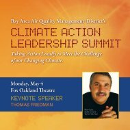 climate action leaDerShip Summit - Bay Area Air Quality ...