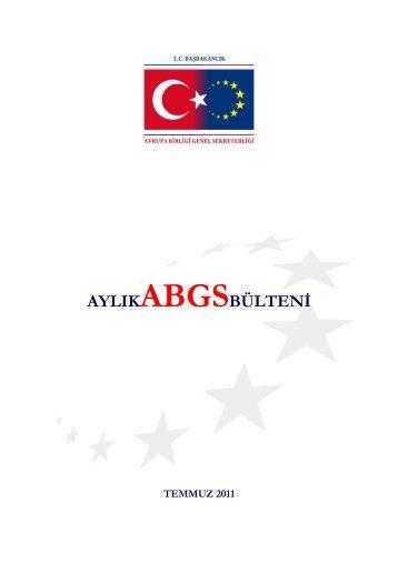 ABGS 2011 Temmuz Bülteni - Avrupa Birliği Bakanlığı