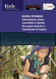 BURMA / MYANMAR International crimes committed in ... - FIDH