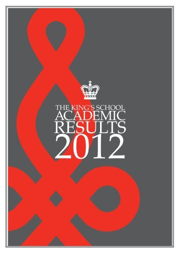 2012 HSC results - The King's School