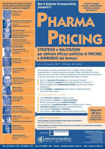 Pharma Pricing - Assogenerici