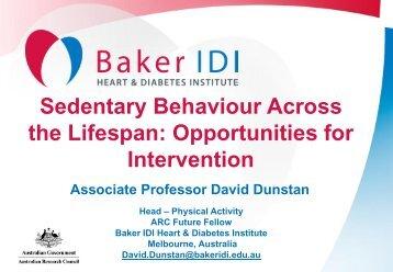 Sedentary behaviour opportunities accross the lifespan