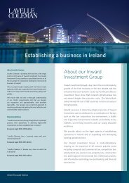 to view our Inward Investment Brochure - Lavelle Coleman