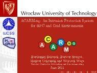 Wrocław University of Technology - Projekt PL-Grid