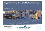 Prysmian Group Smart Cable Technologies - Energy Lab Foundation