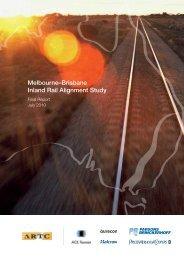 Melbourne–Brisbane Inland Rail Alignment Study - Australian Rail ...