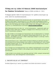 Tillæg om ny viden til Natura 2000-basisanalyse - Naturstyrelsen
