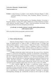 izvestaj komisije za pregled i ocenu doktorske disertacije - Hemijski ...